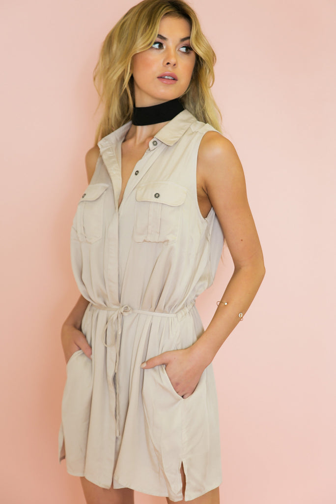 Savanna Wrap Tie Shirt-Dress