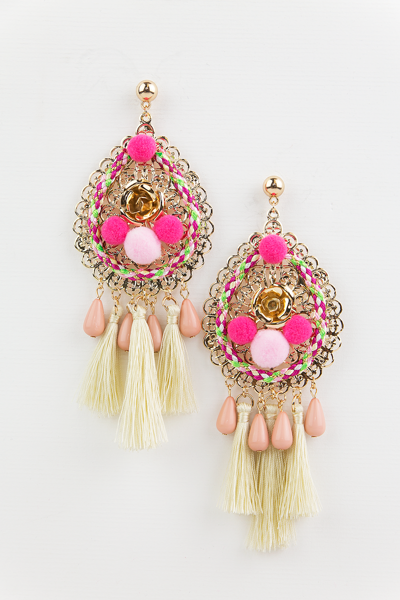Something Good Tassel Earring - Ivory - Haute & Rebellious