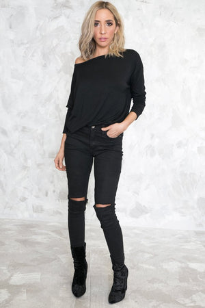 Long Sleeve Casual Top - Haute & Rebellious