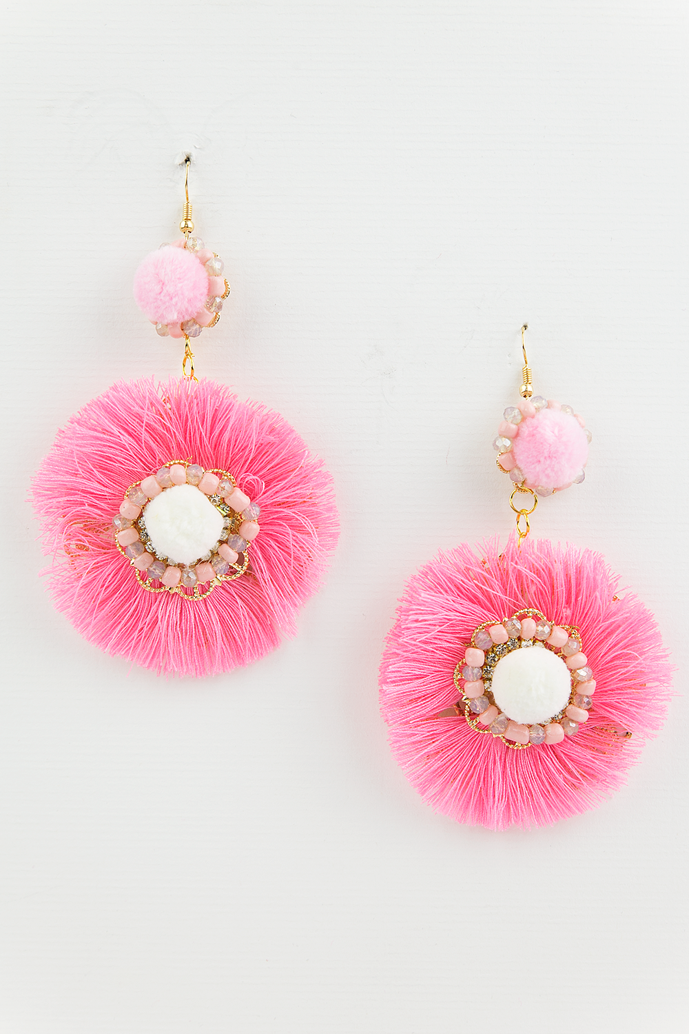 All of Me Fringe Earrings - Pink - Haute & Rebellious
