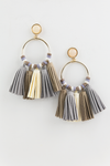 Leather Tassel Hoop Earring - Haute & Rebellious