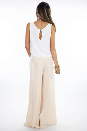 BASIC CHIFFON CROPPED TOP - White - Haute & Rebellious