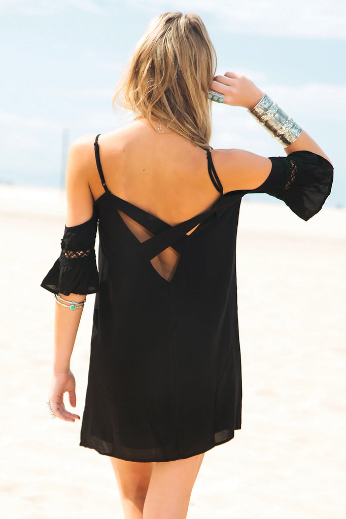Rayla Off-Shoulder Dress - Black