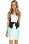 GEOMETRIC COLOR BLOCK DRESS - Haute & Rebellious