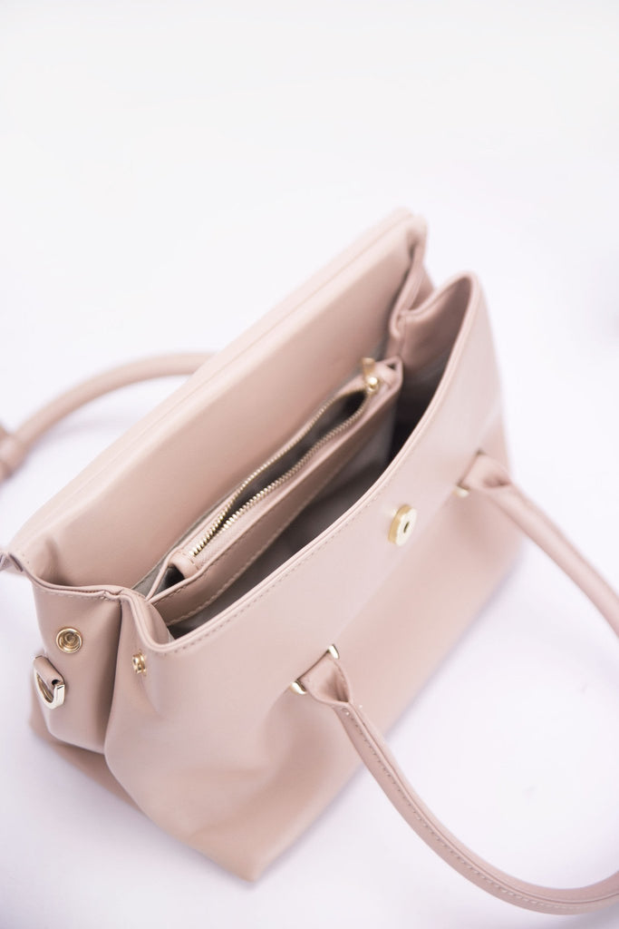 Blush Crush Leather Hand Bag