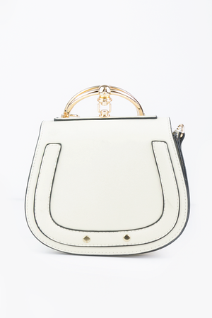 See You Metal Handle Bag - Ivory - Haute & Rebellious