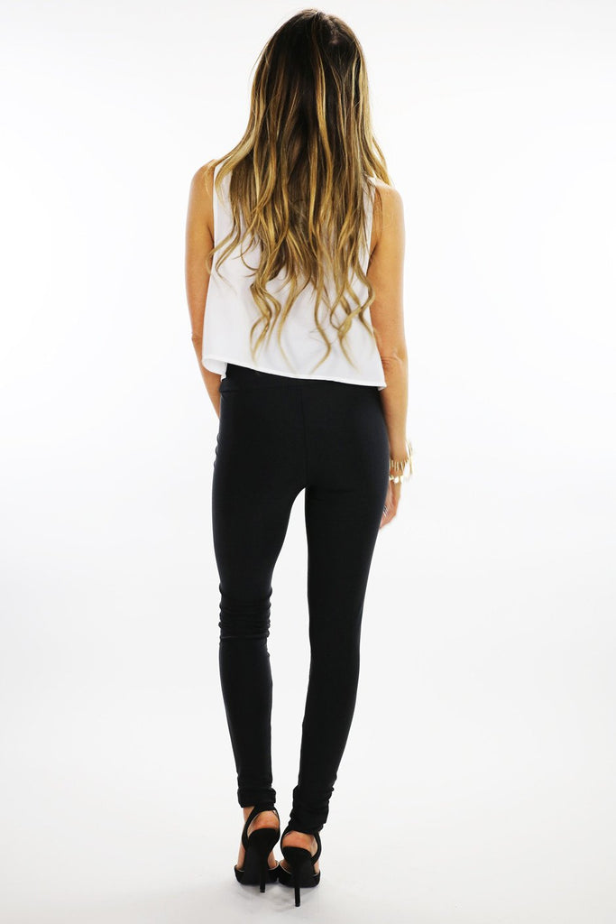 LORIN HIGH WAISTED LEGGINGS - Black