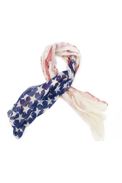 Vintage American Flag Scarf - Light