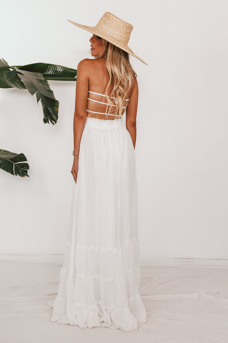 Lenai Strappy Back Maxi - White /// Only 1-S Left ///