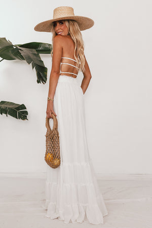 Lenai Strappy Back Maxi - White
