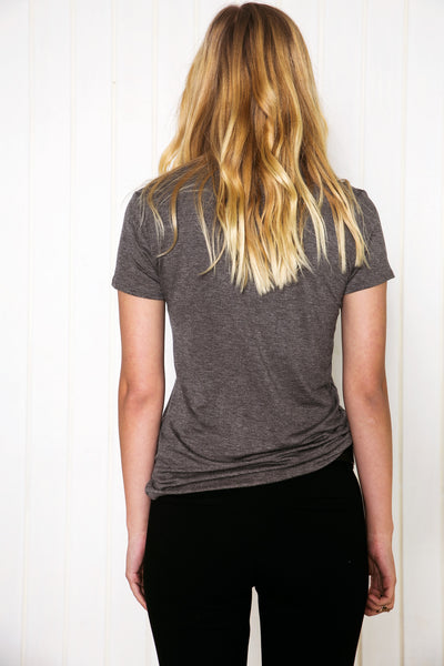 One & Only Basic Tee - Heather Grey - Haute & Rebellious