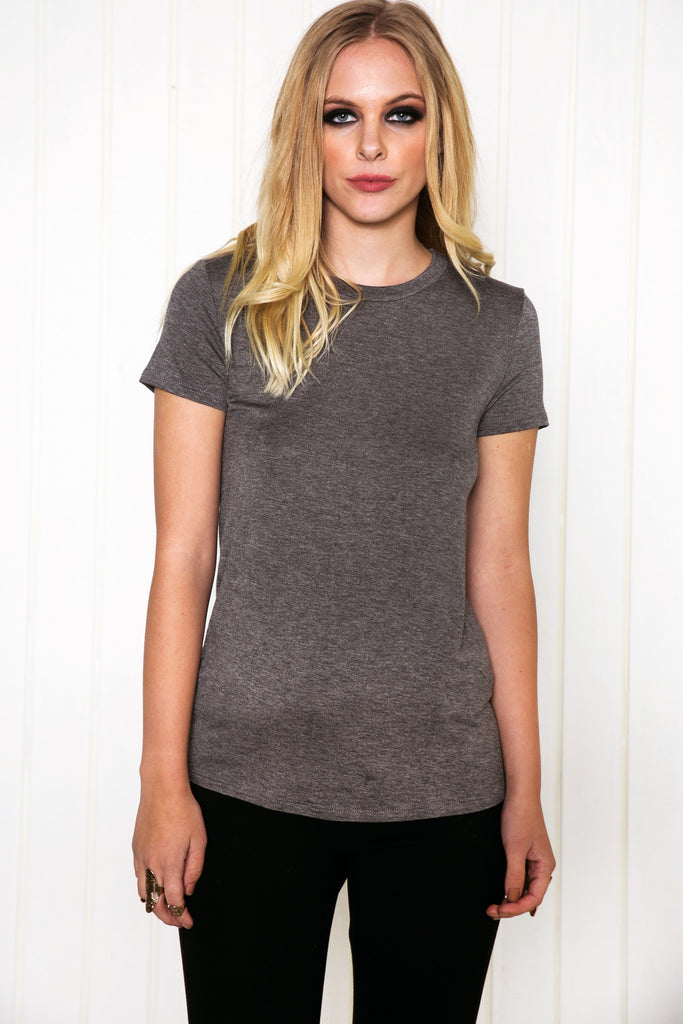 One & Only Basic Tee - Heather Grey