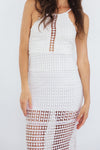 Crochet Maxi Dress - White
