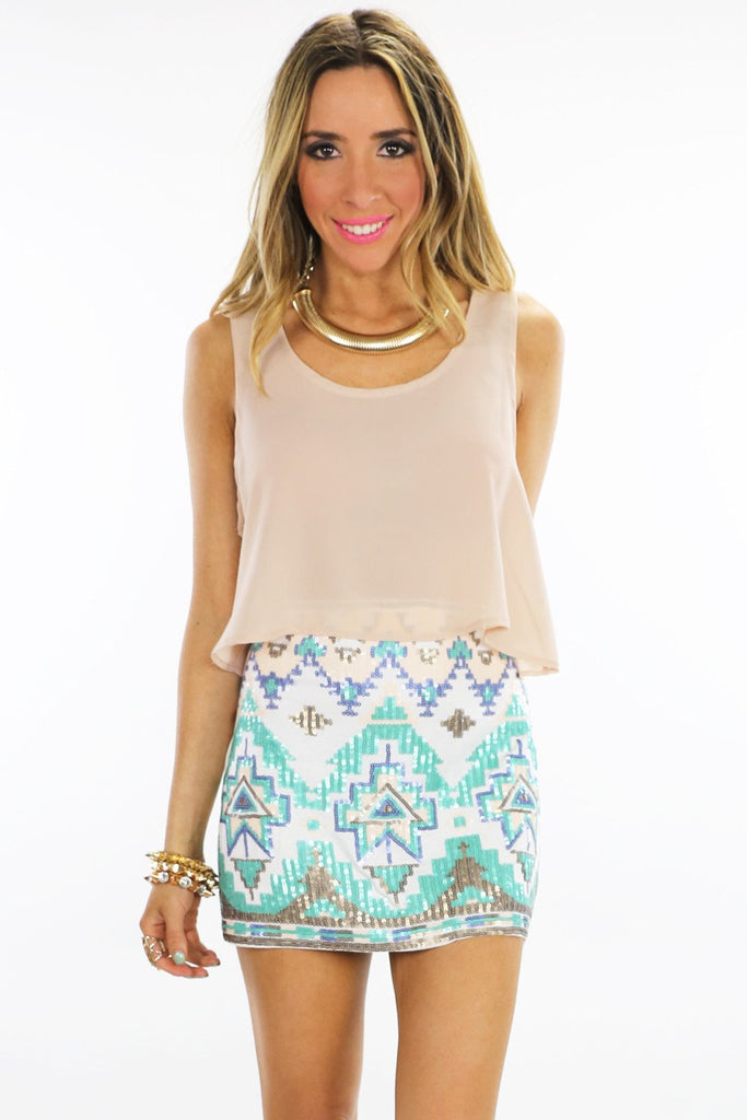 BASIC CHIFFON CROPPED TOP - Blush - Haute & Rebellious