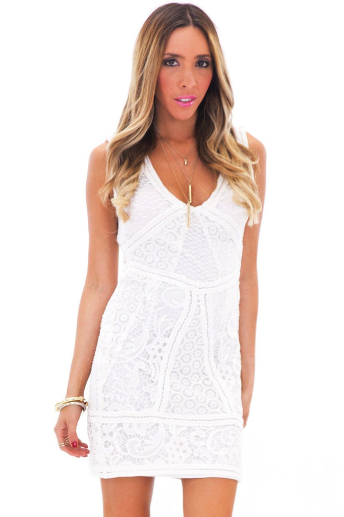 HELMUT MULTI LACE CONTRAST DRESS