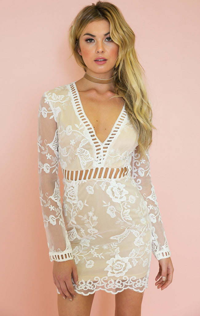 All I Want Long Sleeve Lace Dress