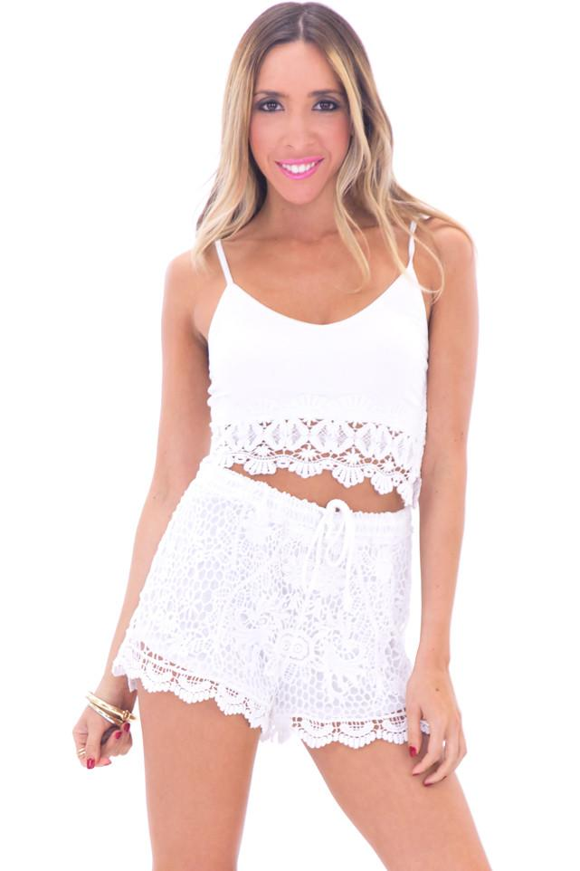 DAISEY LACE CROP TOP - WHITE - Haute & Rebellious