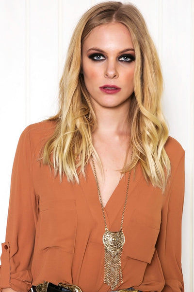 Karin Fringe Pendant Necklace