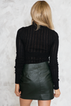 Mystic Ranch Ribbed Knit Turtleneck - Black  /// Only 1-L Left /// - Haute & Rebellious