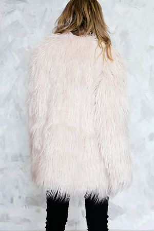 Faux Fur Long Hair Coat