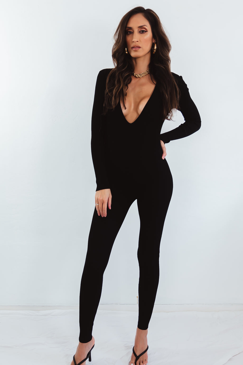 Fitted Ribbed Jumpsuit