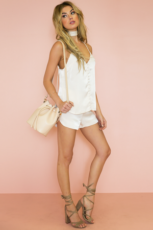 Leslie Satin Shorts - Light Nude - Haute & Rebellious