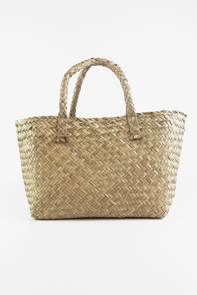 Medium Straw Basket Bag
