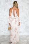 How Far I'll Go Shoulder Cutout Maxi - Haute & Rebellious