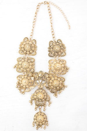 Calina Gold Statement Necklace - Haute & Rebellious