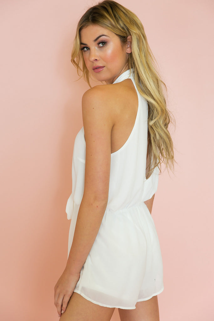 Think Twice Tie Romper