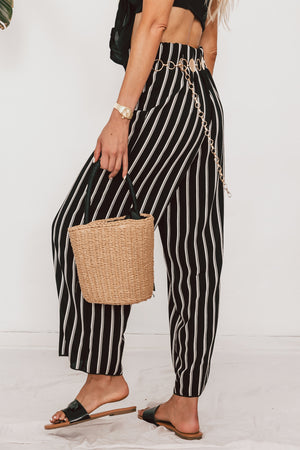 Striped Culotte Pants