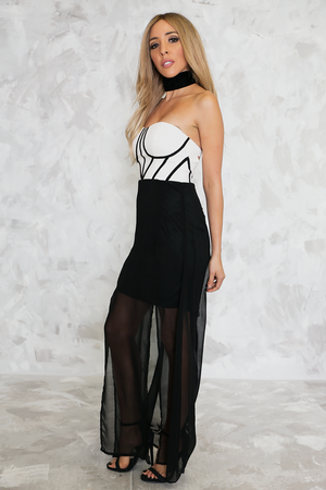 Something Sheer Maxi Dress - Haute & Rebellious