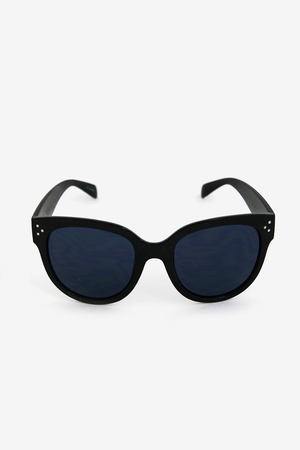 Audrey Round Sunglasses - Black - Haute & Rebellious