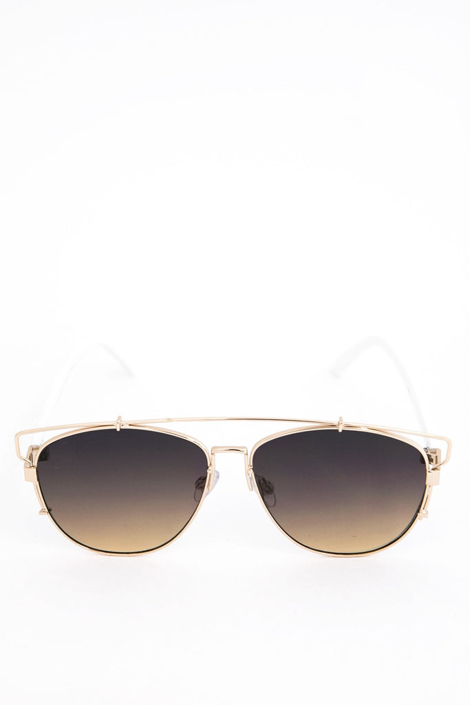 Amelia Aviator Shades - Gold