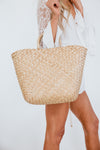 Medium Straw Handle Basket Bag