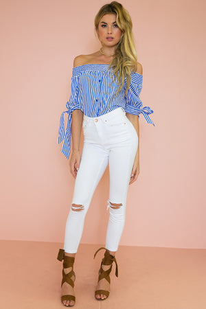 Saint-Tropez Off-Shoulder Top - Haute & Rebellious