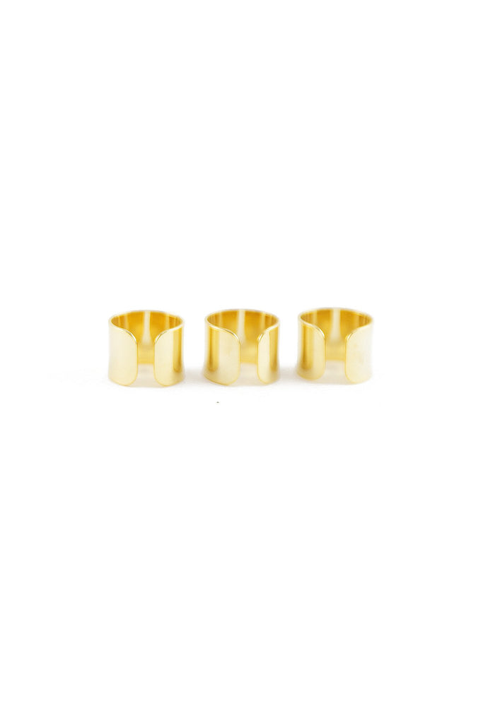 BRAND GOLD PLATED RING SET - Haute & Rebellious