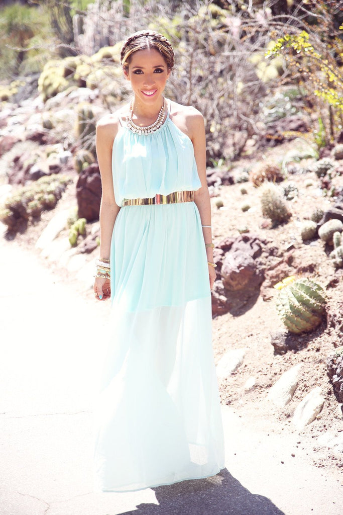 FARAH MAXI DRESS - Mint