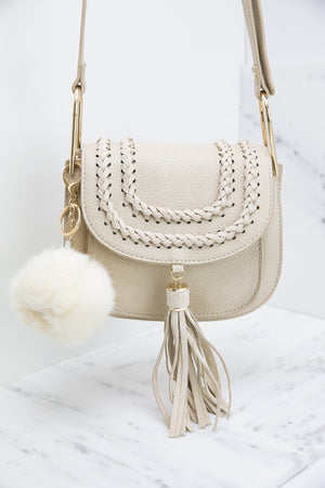 Pom-Pom Key Chain - Ivory - Haute & Rebellious