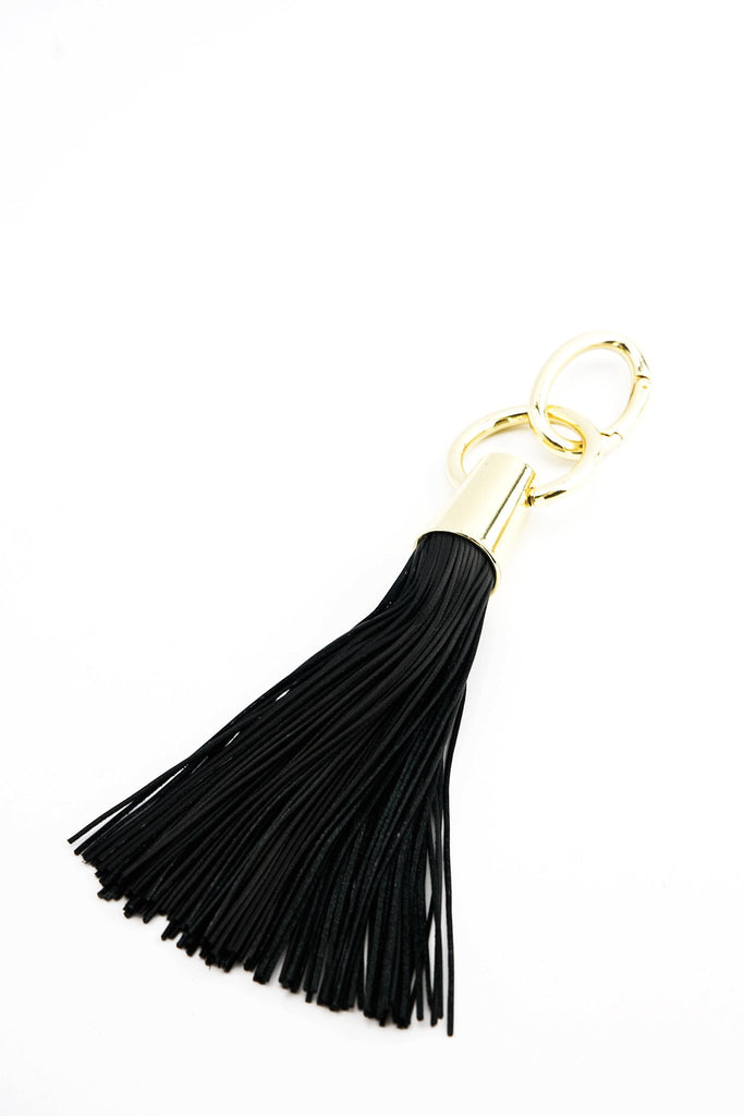 Clea Leather Fringe Key Chain