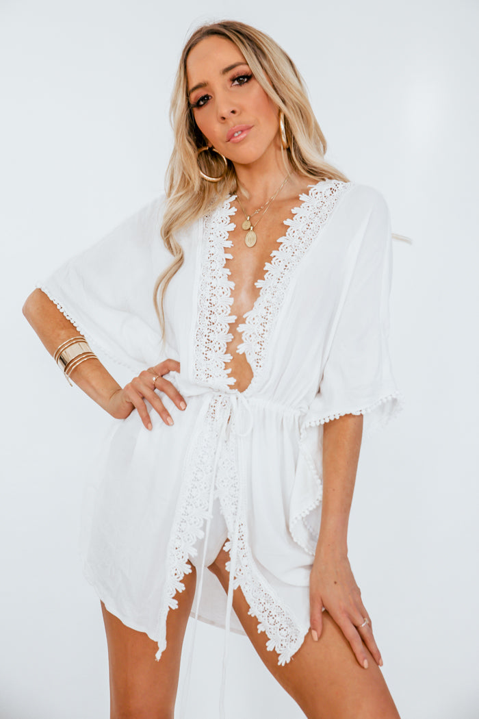 Crochet Trim Coverup