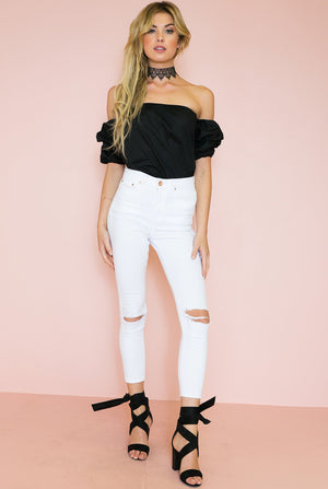 Fiesta Queen Off-Shoulder Top - Black /// Only 1-S Left /// - Haute & Rebellious
