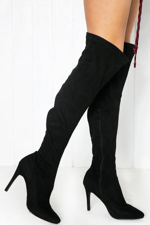 Cari Knee High Boots - Black - Haute & Rebellious