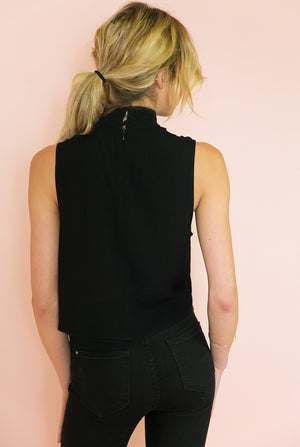Not Alone High Neck Top - Haute & Rebellious