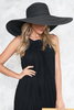 Lana Floppy Brim Straw Hat - Black
