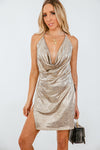 Sexy Thing Metallic Dress /// Only 1-M Left ///