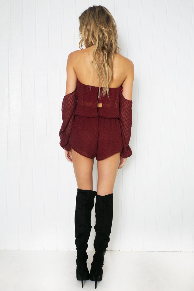 Audrey Off Shoulder Romper