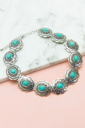 Rock and Stone Choker - Turquoise - Haute & Rebellious