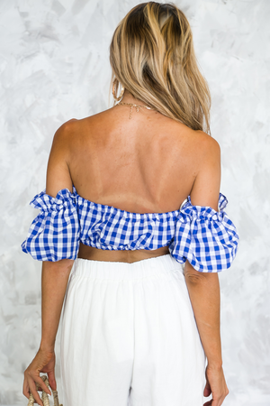 Out-About Picnic Gingham Crop Top /// Only 1-M Left /// - Haute & Rebellious