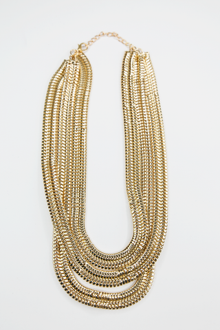 Oh My Statement Necklace - Gold
